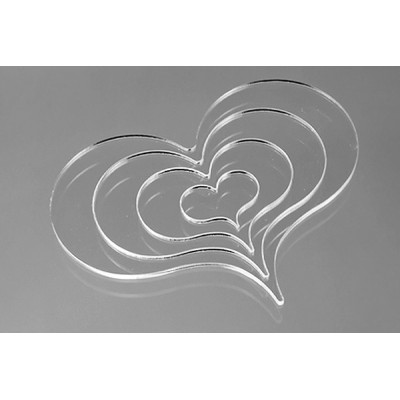 """Heart Drawing Tool - Set of 4 Nested Tools 3/16""""x1"""" - 4 13/16""""x3 5/8"""""""