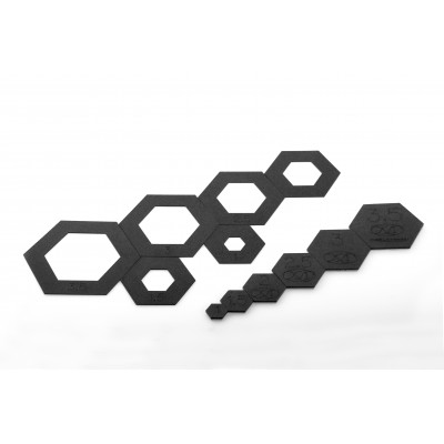 "Hexagon Temp / Fussy Set (1""-1,5""-2""-2,5""-3""-3,5"")"