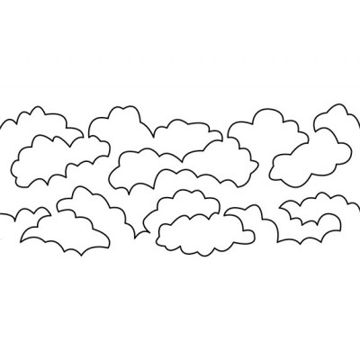 "Gabarit sublimes nuages  (10""x24"")"